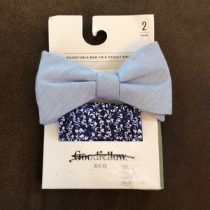 Goodfellow & Co Chambray Bow Tie Pocket Square